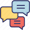 chat, chatting, comments, forum icon
