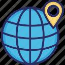 globe, location, map, pin