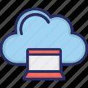 cloud, cloud computing, laptop, storage