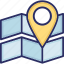 direction, map, pin, route icon