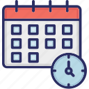 calendar, date, schedule, time icon