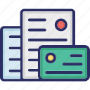 templates, files, cards, layout icon