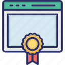 badge, browser, medal, web page icon