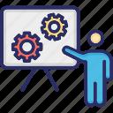presentation, seo, training, workshop icon