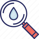 drop, magnifier, organic, research, search