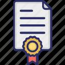 award, badge, certificate, contract, guarantee