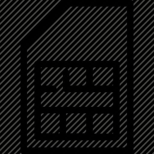 card, chip, microchip, network, sim icon