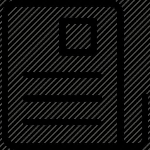 application, cv, document, letter, resume icon