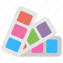 color catalogue, colors chart, colours palette, paint swatches, pantone icon