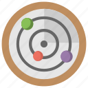 copernican system, heliocentric system, planetary system, planets, solar system icon