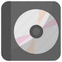 cd, compact disk, computer disk, dvd, recorder icon
