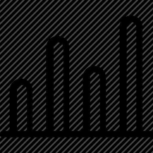 analytics, bar chart, bar graph, growth, statistics icon