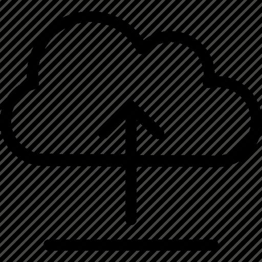 arrow, cloud, computing, export, upload icon