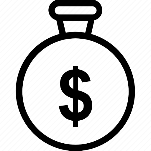 business, chronotimer, dollar, finance, timer icon