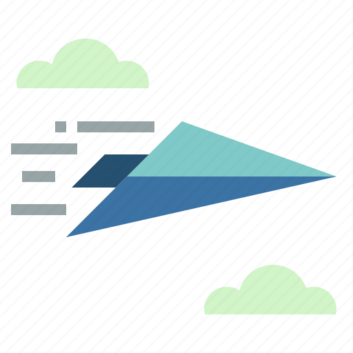 airplane, communications, message, paper, plane icon