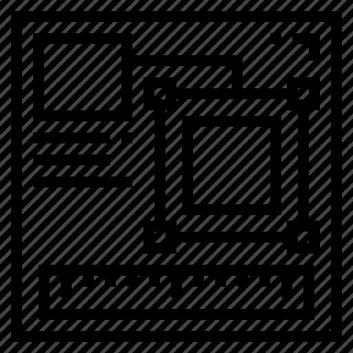 design, draft, planning, sketch icon