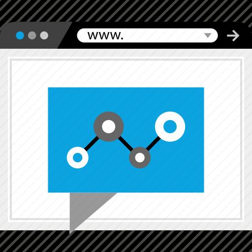 analytics, chat, web, www icon