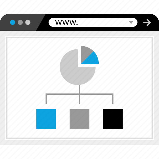 clicks, data, ppc, web icon