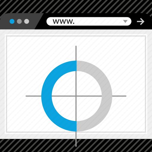 analytics, target, web, www icon