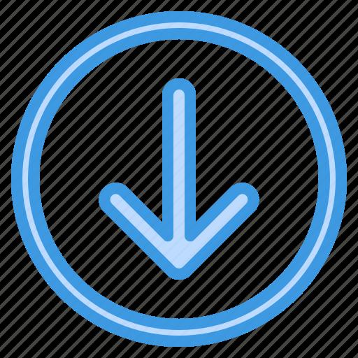 arrow, computing, down, interface, internet icon