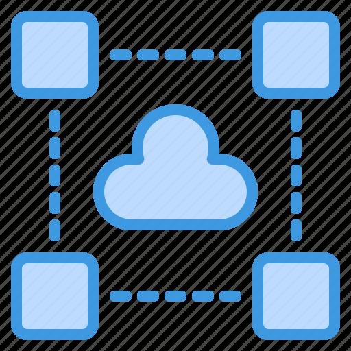 cloud, computing, data, interface, internet icon