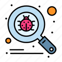 bug, scan, search, virus