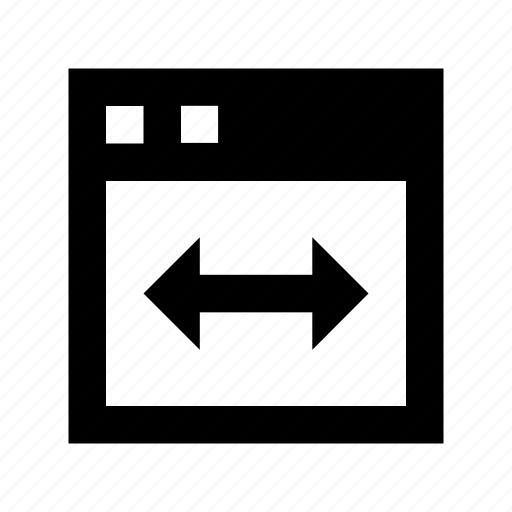 page maximize, page size, size arrows, webpage width, window width icon