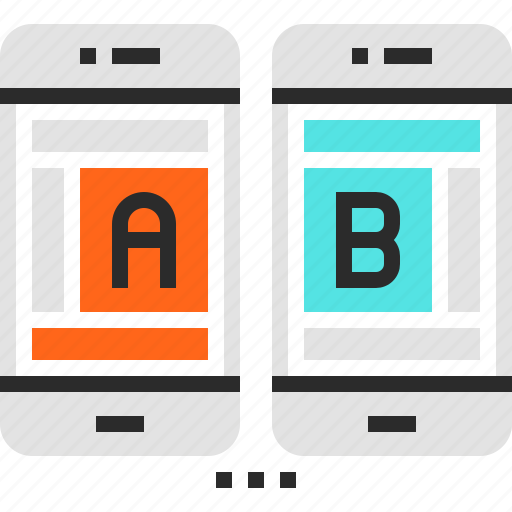 ab, comparison, mobile, test, testing, usability, web icon