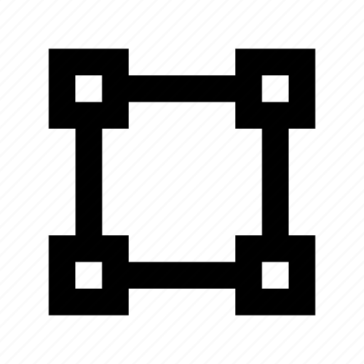 designing tool, graphic editor, photoshop tool, selection square, transform box icon