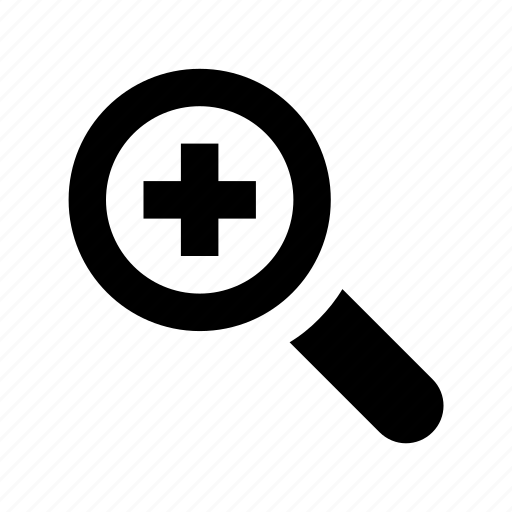 magnifying glass, maximize, zoom in, zoom interface, zoom tool icon