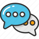chat, dialogue, discussing, speech bubble, talking icon
