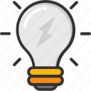 bulb, electric light, idea, incandescent, light bulb icon