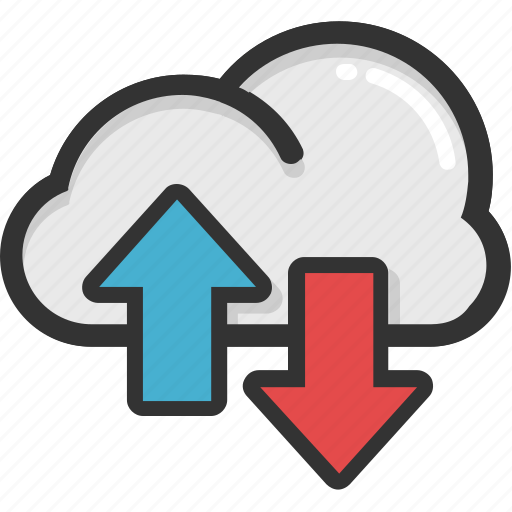 cloud arrows, cloud computing, cloud stock, data storage, icloud icon