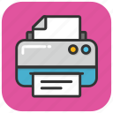 correspondent, deskjet, fax machine, output device, printer icon