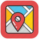 location marker, map locator, map pin, location pointer, map location