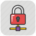 data security, information security, internet security, network lock, server lock icon