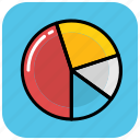 circle chart, analytics, pie graph, analysis, pie chart