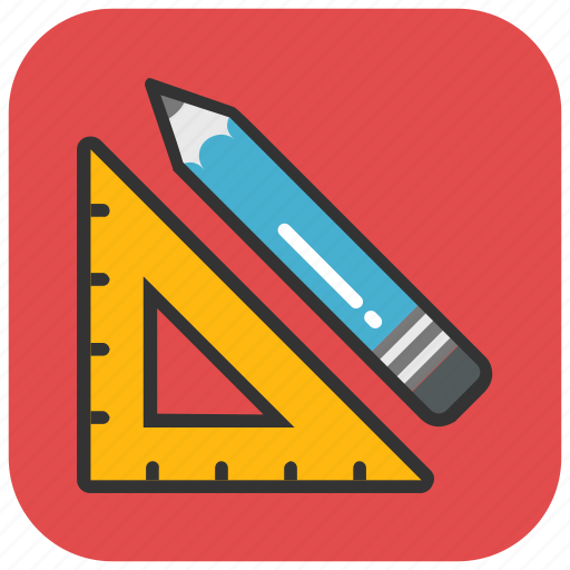 drafting, drawing tools, measuring, sketching, stationery icon