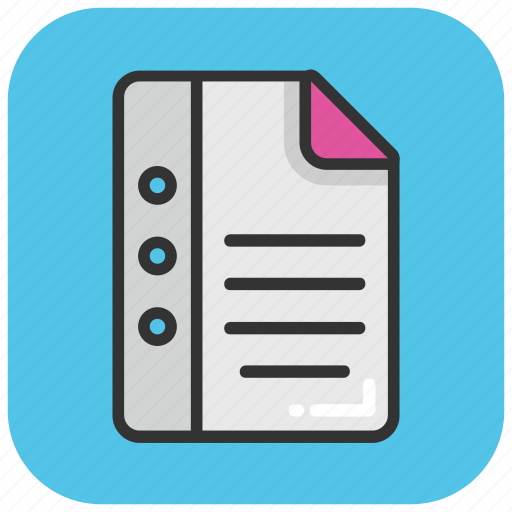 book, diary, directory, jotter, notepad icon