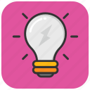 bulb, light bulb, electric light, idea, incandescent