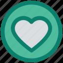 article, circle, design, favorite, heart, like, love icon
