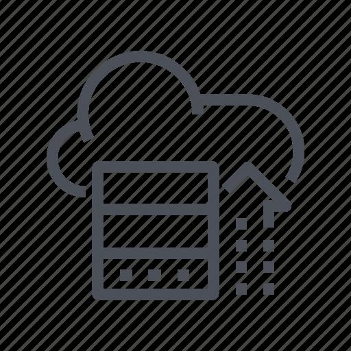 cloud, computing, data, document, storage icon