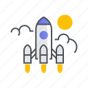 business, marketing, rocket, startup icon