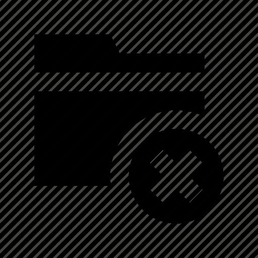 archive, cancel folder, delete folder, folder, remove folder icon
