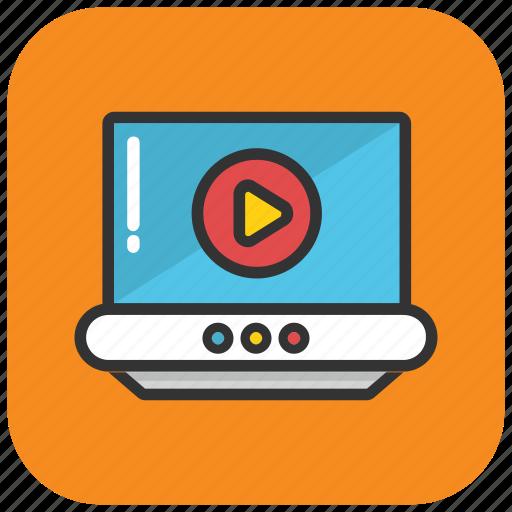 digital media, media player, online movie, online video, video streaming icon