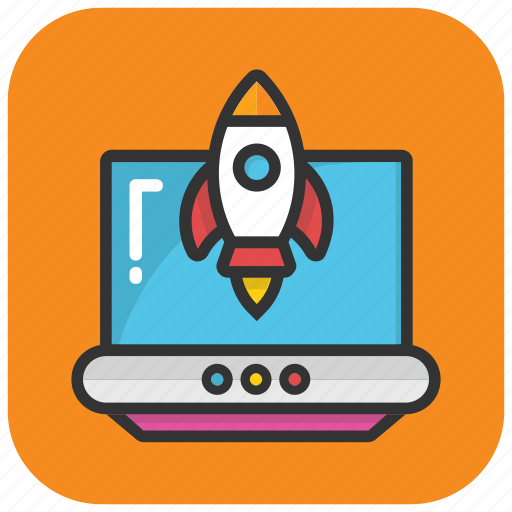 web development, web launching, web release, web startup, website launch icon