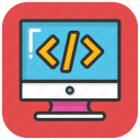 coding, programming, software develop, source code, web development icon