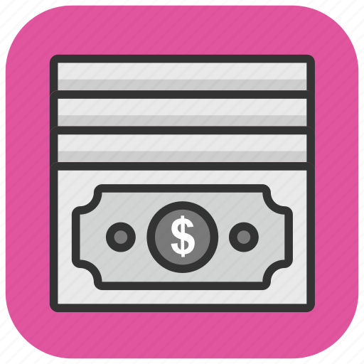 banknote, currency note, dollar, money, paper money icon