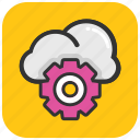 cloud computing, cloud maintenance, cloud service, cloud setting, cloud technology icon