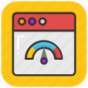 web odometer, web rating, web speed, web traffic icon